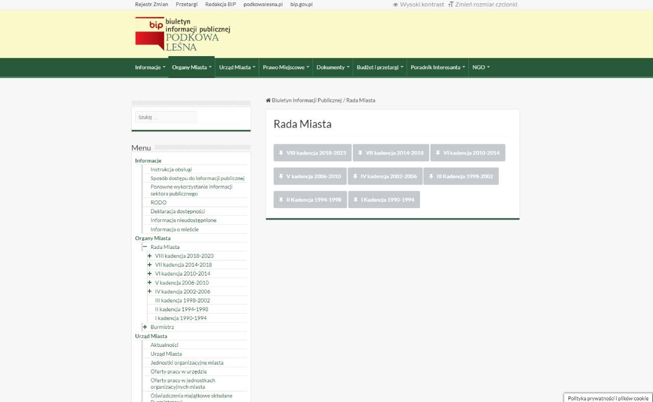 ROAN24 BIP Podkowa Leśna Stadsbestuur