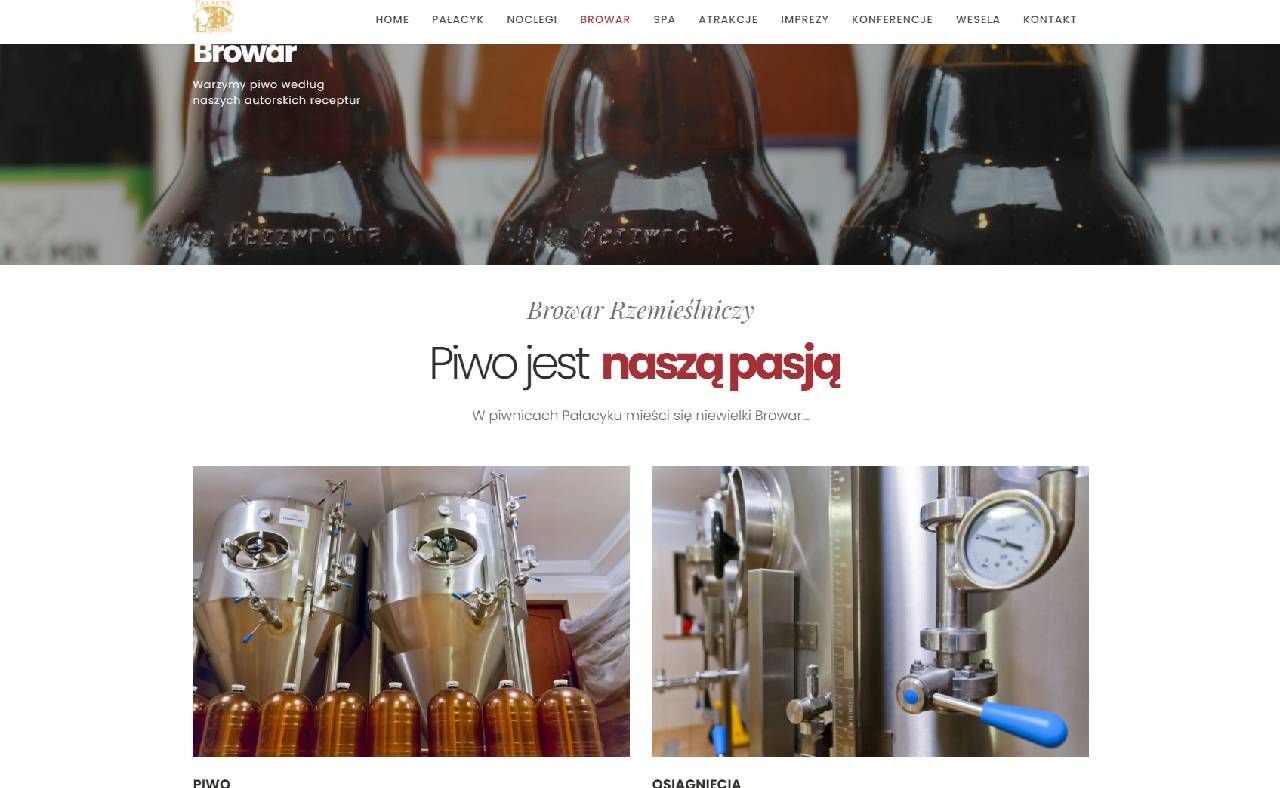 ROAN24 Palace Łąkomin Brouwerij Website