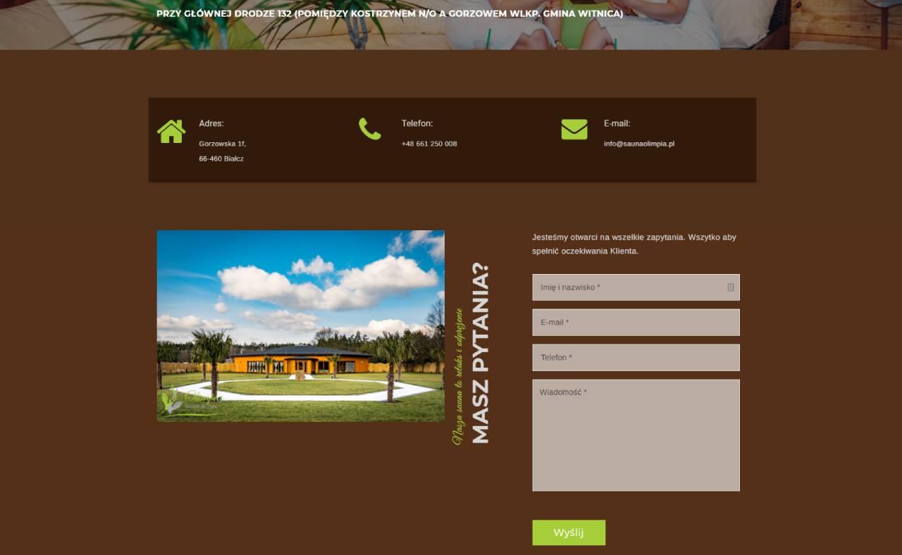 ROAN24 Sauna Olimpia Website Contact